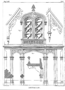 Returning To The Subject Sloan Outlines On A Page Of Patterns For Details Which Illustrate Features Gothic Revival Style
